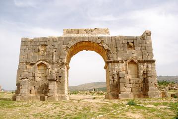 Triumphal arch, Volubilis, Morocco
