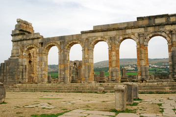 Ruins of the Forum, Volubilis, Morocco