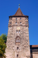 Medieval tower, Nurnberg, Germany