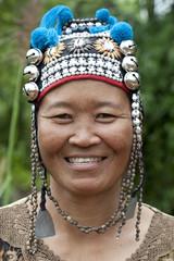 Portrait Frau von Thailand, Akha