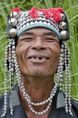 Portrait Mann von Thailand, Akha
