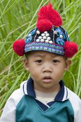 Portrait Junge von Thailand, Akha