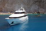 luxury motor boat poster
