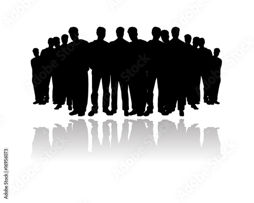 Crowd Silhouette Vector Vector People Crowd Silhouette