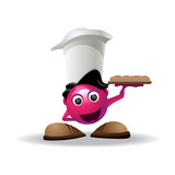 served with pizza mascot poster
