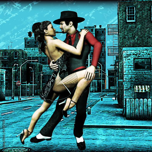 Fototapeta Miejskie Tango
