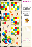 Visual puzzle: Find the top view of the figure 6. poster
