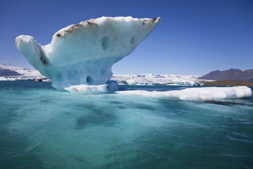 Melting Iceberg on the Lagoon, Jokulsarlon, Iceland