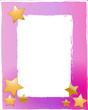 Karte Textfeld Sterne rosa pink