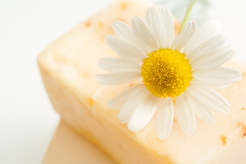Soap for sensitive skin with chamomile