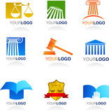 Vector law icons and elements poster