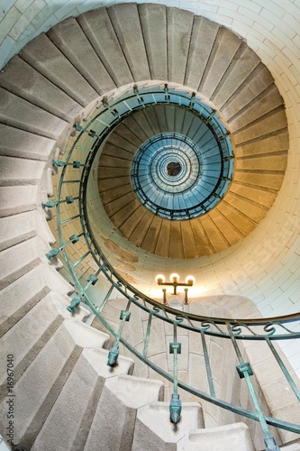 Foto op Aluminium Vuurtoren / Mill beautiful lighthouse staircase