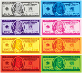 Dollar pop art wallpaper