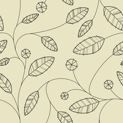 vector seamless leaves wallpaper...