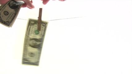Drying Dollar Banknotes