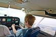 Kind hat als Copilot den Flug der Cessna übernommen