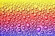 beautiful close-up drops on glass