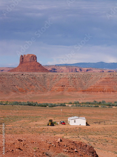 isolated home in the middle of the desert