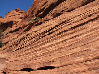 striations in the canyon. Arizona.