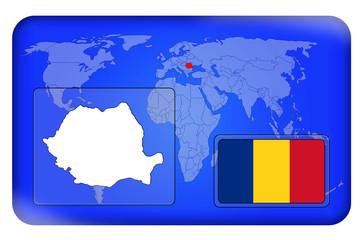 3D-Button - Rumänien