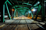 Fototapety Gdanski Bridge by night, Warsaw, Poland