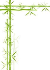 Cadre bambou angle
