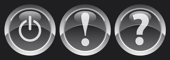 black buttons set 1