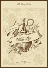 série menu: liste de vins