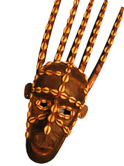 african mask isolated on the white