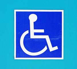 differently-abled wheechair sign