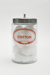 Jar of cotton wool balls