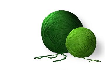 Gomitoli di lana verde (RAL 6024)