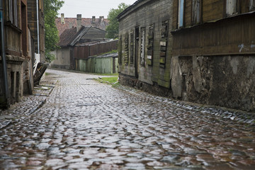 Cobbled street, Latvia