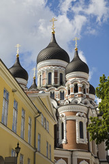 Alexander Nevsky Cathedral in old town Tallinn, Estonia