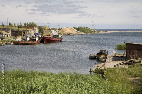 Latvian fishing village