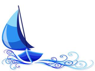 Barca a Vela-Sailboat Background-Bateau à Voile
