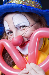 clown con palloncino