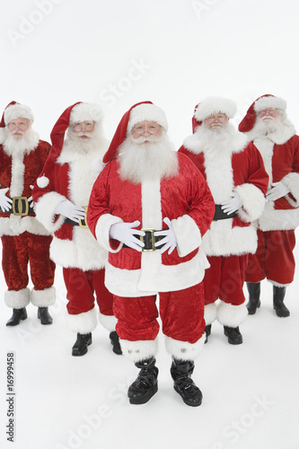 Group of men dressed as Santa Claus