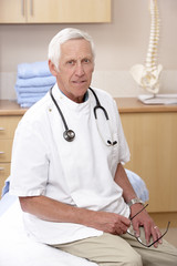 Portrait of male osteopath