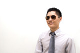 Asian male business with sunglasses