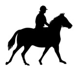 equestrian horse rider silhouette poster