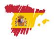 mappa bandiera Spagna
