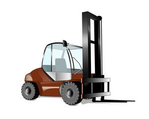 stacker forklift illustration