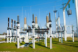 general view to high voltage substation poster