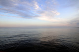 Fog above Baltic sea poster