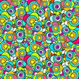 Doodle flower pattern poster