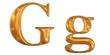 ゴールドのアルファベット g