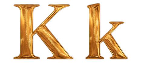 ゴールドのアルファベット k