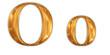 ゴールドのアルファベット o