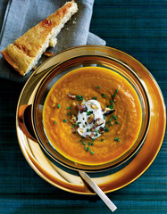 pumpkin and apple soup, appetizer